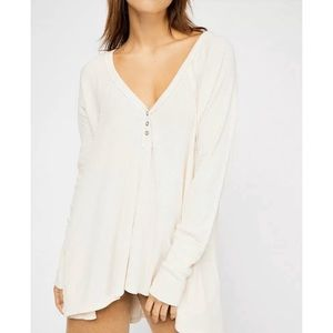 Free People Thermal Tunic Ecru Medium